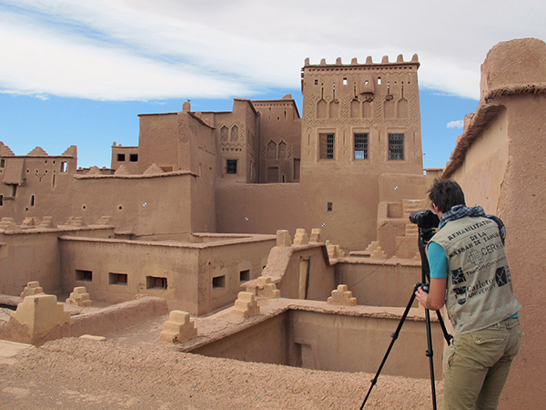 Tim Michiels investigates the in Kasbah of Taourirt in Morocco