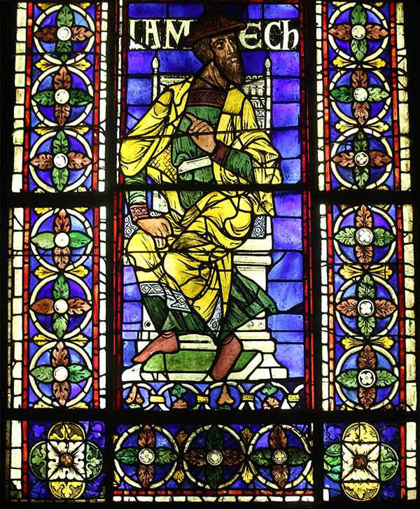 Lamech, from the Ancestors of Christ Windows