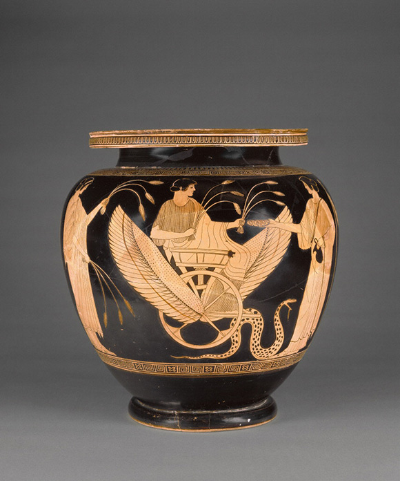 Mixing Vessel with Triptolemos / Syleus Painter