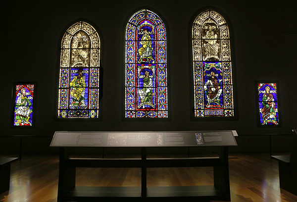 Canterbury stained glass installation view