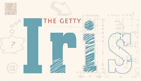 The Getty Iris draft logo