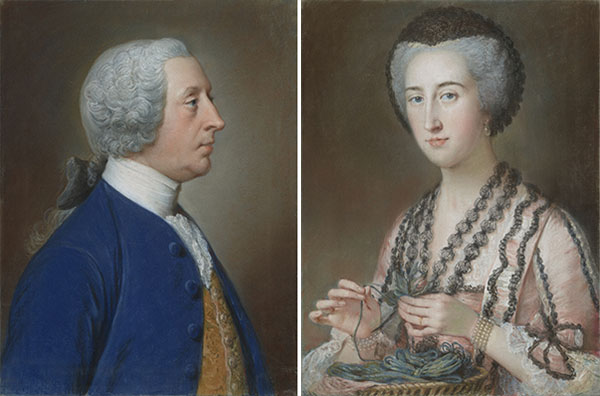 "Henry Hoare, ""The Magnificent,"" of Stourhead; Susannah Hoare, Viscountess Dungarvan / William Hoare"