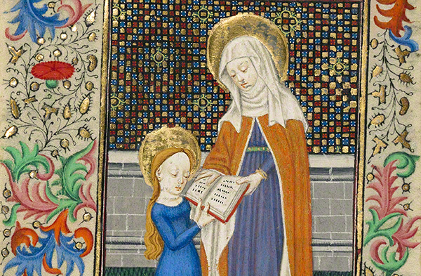 Saint Anne Teaching the Virgin to Read / Master of Sir John Fastolf