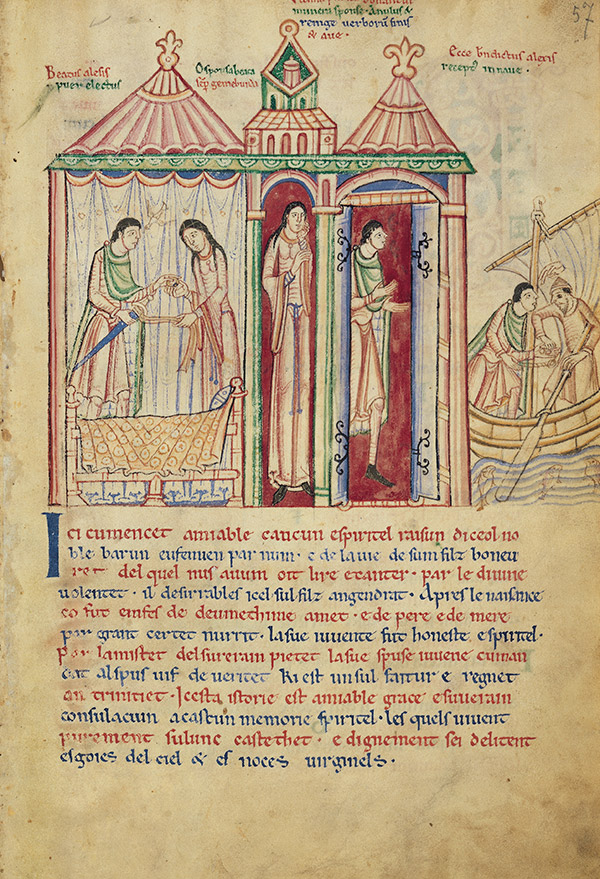Scenes from the Life of Saint Alexis in the St. Albans Psalter / Alexis Master