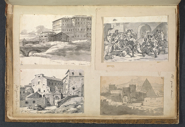 Sketches of Roman ruins in Album 11 / Jacques-Louis David