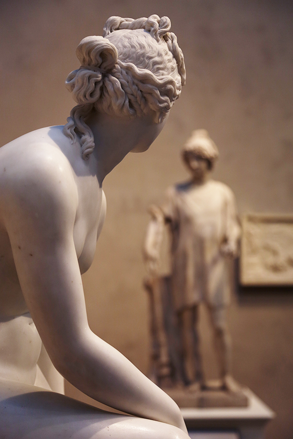 Venus casts a glance at Paris in Gallery W101