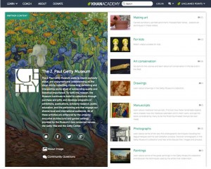 Getty Museum's content on Khan Academy's website
