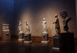 Neoclassical and Roman sculptures at the Getty Center, Gallery W101
