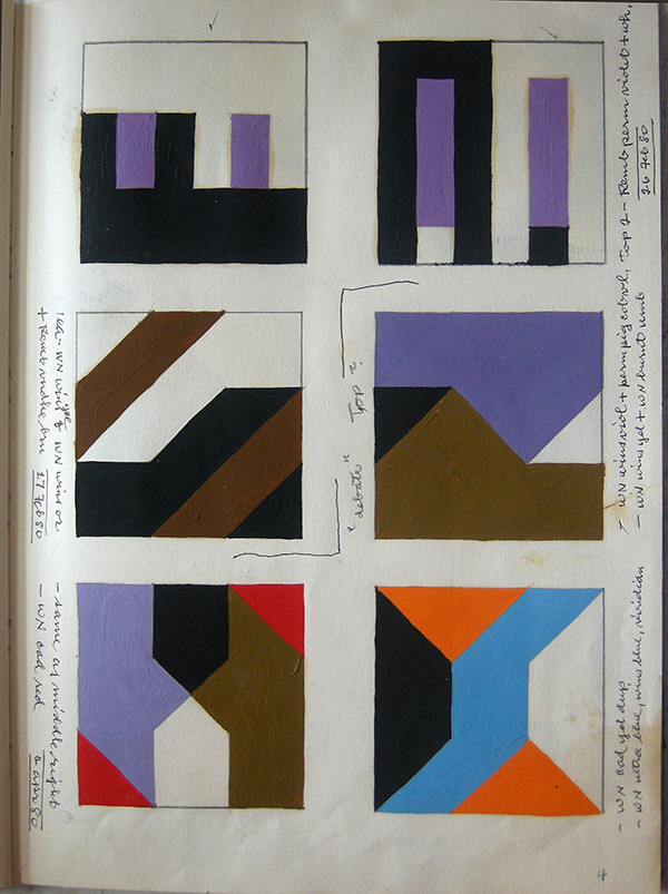 Page from Composition Book 2 / Frederick Hammersley