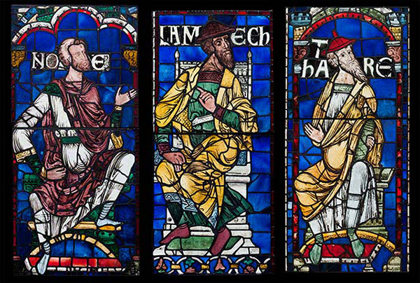 Noah, Lamech, and Thara from the Ancestors of Christ Windows / Canterbury Cathedral