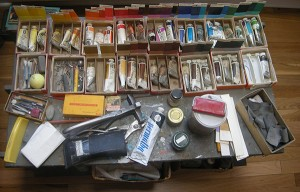 Frederick Hammersley's paints and studio tools / Albuquerque, New Mexico