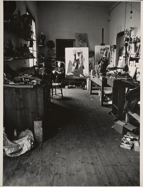 An interior of Picasso's studio / Alexander Liberman