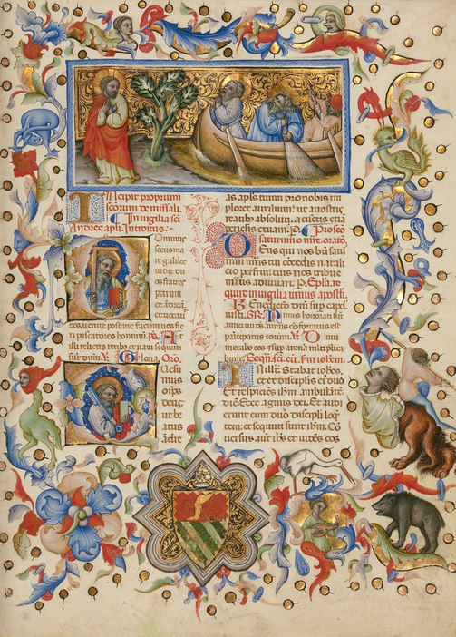 The Calling of Saints Peter and Andrew / Master of the Brussels Initials