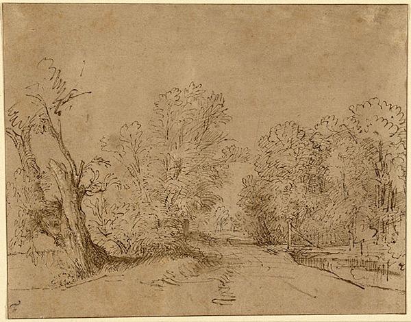 A Wooded Road / Rembrandt Harmensz. van Rijn