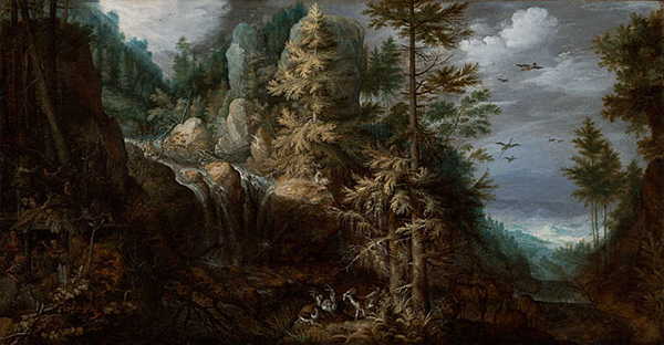 Landscape with the Temptation of Saint Anthony / Roelandt Savery