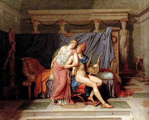 The Loves of Helen and Paris, 1788, Jacques-Louis David (French, 1748 - 1825), oil on canvas, Musée des Arts décoratifs, Paris