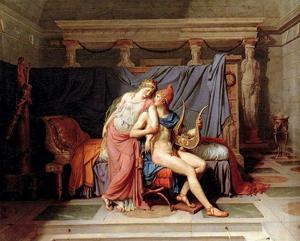 The Loves of Helen and Paris, 1788, Jacques-Louis David (French, 1748 - 1825), oil on canvas, Musée des Arts décoratifs, Paris