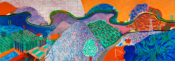 Mulholland Drive, The Road to the Studio / David Hockney