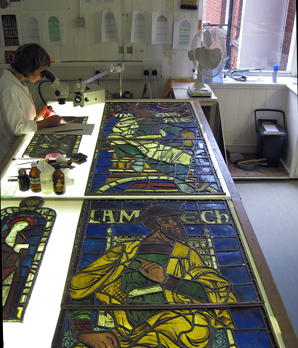 Stained Glass Studio at Canterbury Cathedral