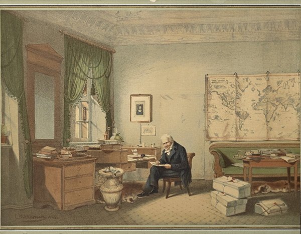 Alexander von Humboldt in his study / anonymous after Eduard Hildebrandt