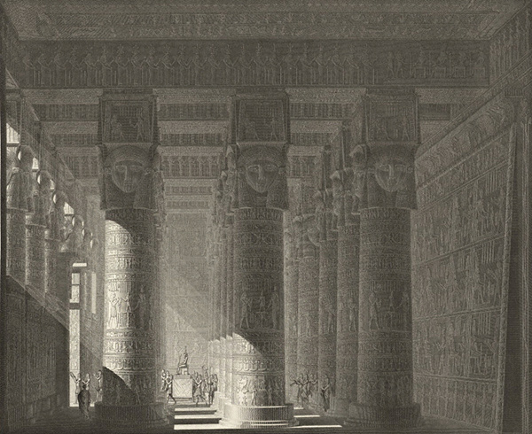 Temple of Hathor at Dendera, Interior / François-Noël Sellier after Jean-Baptiste Prosper Jollois and René Edouard de Villiers du Terrage