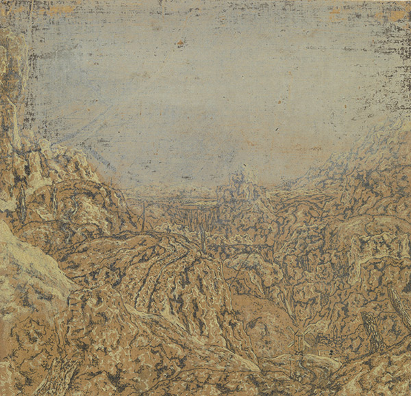 Mountain Gorge Bordered by a Road / Hercules Segers