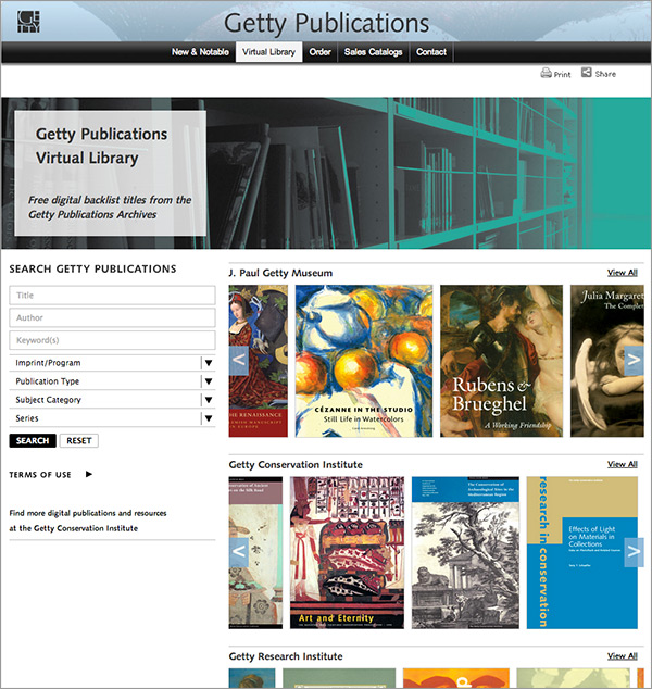 Getty Publications Virtual Library offers 40 years of art books for free