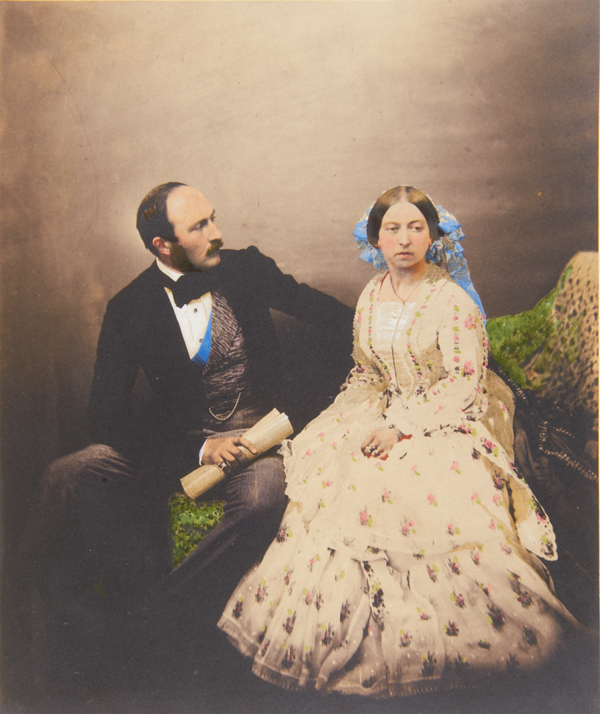 Queen Victoria and Prince Albert (1854), Roger Fenton (British, 1819-1869), hand-colored albumen silver print. Royal Collection Trust / © Her Majesty Queen Elizabeth II 2013