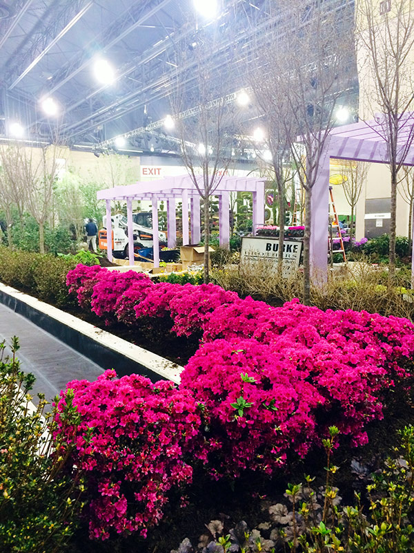 Getty Center garden installation at the Pennsylvania Horticultural Society's Philadephia Flower Show
