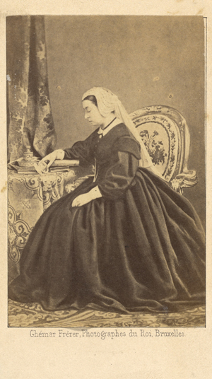 Portrait of Queen Victoria Seated, Gazing at a Photograph of Prince Albert (about 1862), Ghémar Frères, albumen silver print. The J. Paul Getty Museum, Los Angeles