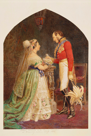 The Queen and Prince Albert, 1854, Roger Fenton (English, 1819–1869) and Edward Henry Corbould (1815–1905), salted paper print, hand-colored. Royal Collection Trust / © Her Majesty Queen Elizabeth II 2013