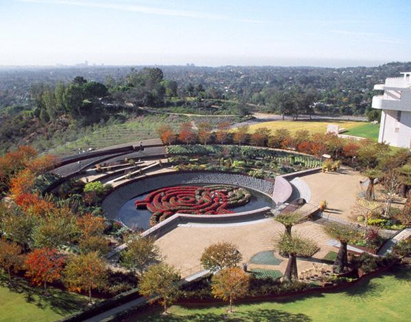 Robert Irwin's Central Garden at the Getty Center