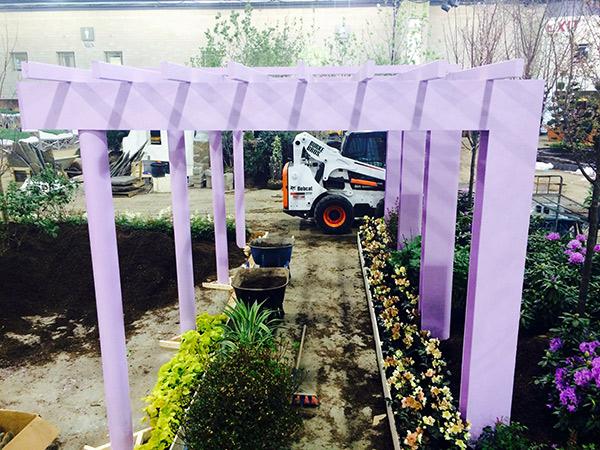Getty Center garden installation at the Pennsylvania Horticultural Society's Philadephia Flower Show