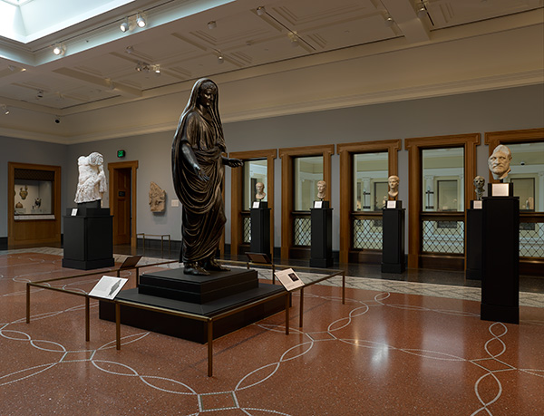 Statue of Tiberius in the Men's gallery at the Getty Villa / Roman