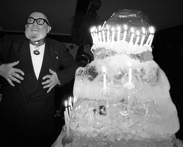 Ansel Adams with his 80th birthday cake