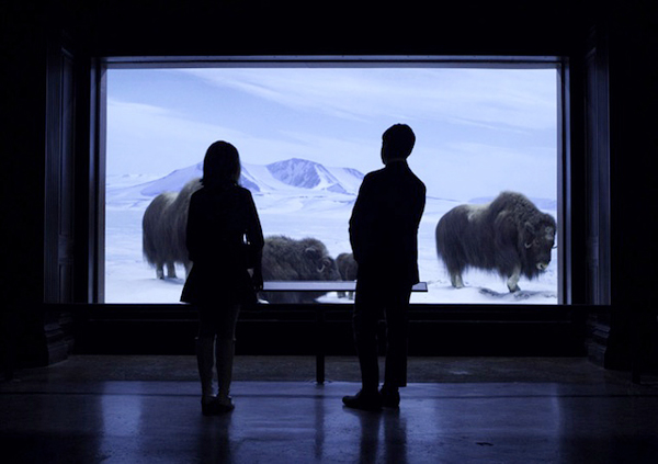 "Still from ""Mad Men,"" filmed at Natural History Museum, Los Angeles. Courtesy of AMC."