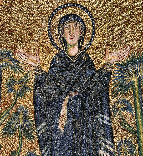 Hagia Sophia mosaic of the Virgin Mary