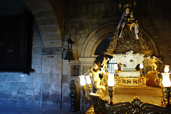 Processional sculpture of the Virgin of Remedies in the Church of San Agustín, Intramuros, Manila. Photo: Marco Musillo
