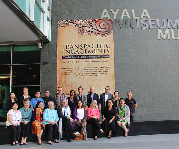 "Participants and organizers of the symposium ""Transpacific Engagements: Visual Culture of Global Exchange (1781–1869)"" in the plaza of the Ayala Museum in Makati City. Photo: Jaime S. Martinez"