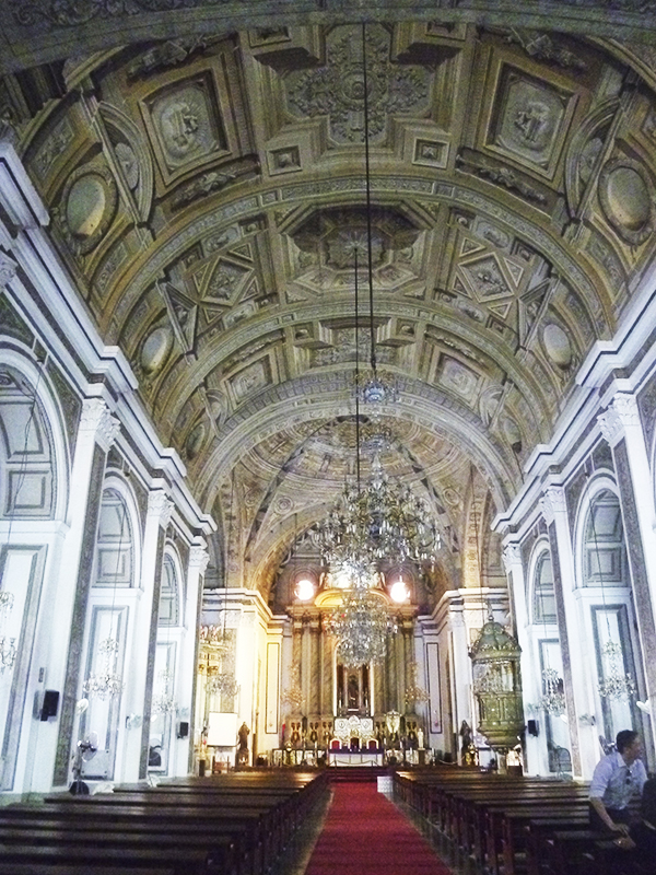 Interior of the Church of San Agustín, Intramuros, Manila. Photo: Photo: Sofía Sanabrais