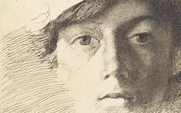 Self-Portrait, 1823-1891, Charles Samuel Keene. J. Paul Getty Museum.