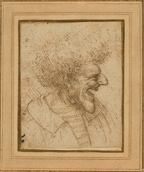 Caricature of a Man with Bushy Hair / Leonardo da Vinci