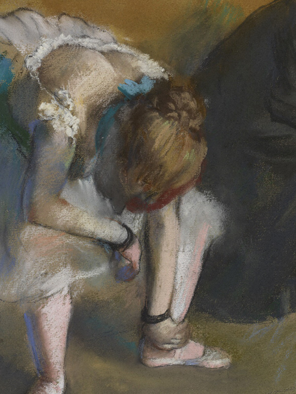 Waiting - detail of ballet dancer / Degas
