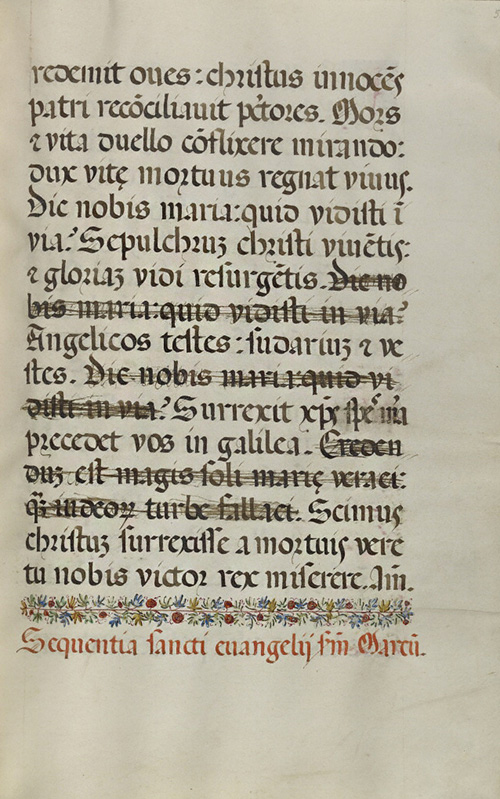 Decorated Text Page / Fra Vencentius a Fundis