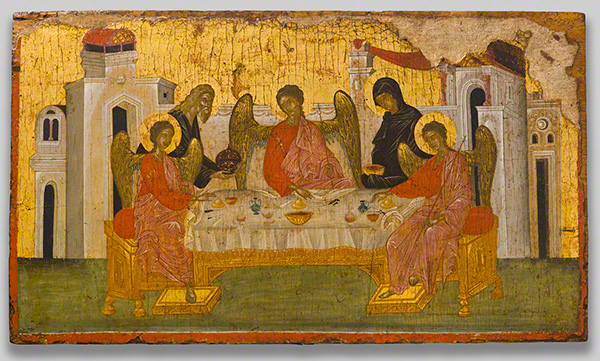 Icon with the Hospitality of Abraham / Byzantine