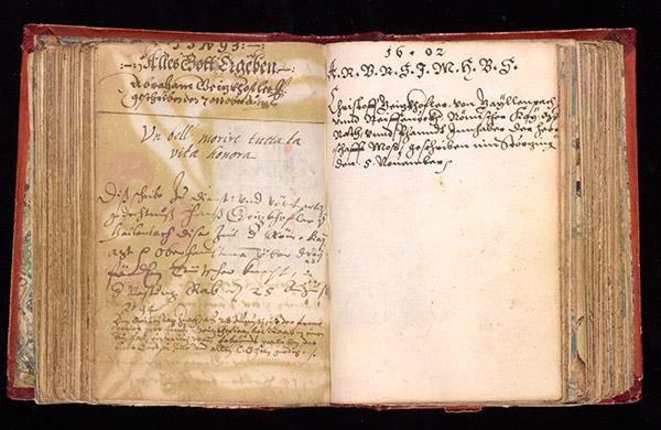 Hans Geizkofler and Abraham Geizkofler, Leaf 166 verso / Leaf 167 recto