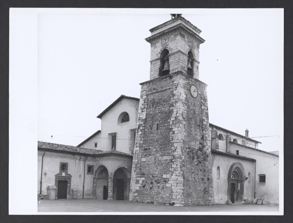SS. Rufino e Cesido basilica, Trasacco, Italy, 16th century. Foto arte minore, Max Hutzel, 1911-1988. Photo taken ca. 1960 prior to restoration in 1969, gelatin silver. The Getty Research Institute, 86.P.8