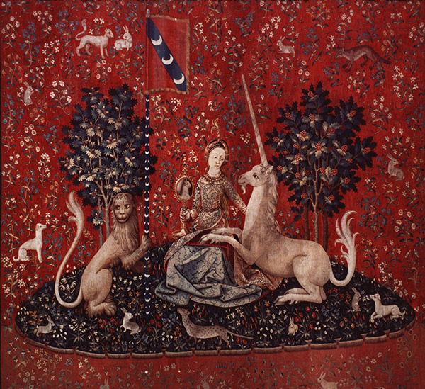 Sight, Lady with Unicorn / tapestry reference photograph