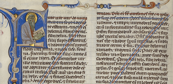 Decorated Canceled Page / Abbey Bible