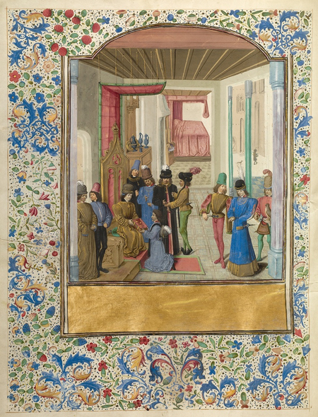 Vasco da Lucena Giving his Work to Charles the Bold / French and Flemish